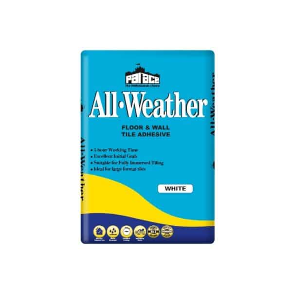 All-Weather Wall & Floor Tile Adhesive 20kg White Pallet of 54